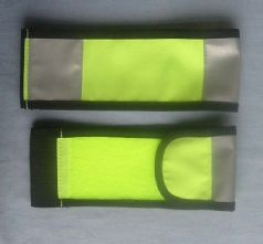 Elasticated Wrap Armband with 2 vertical light reflective Strips